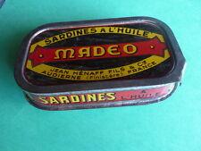Ancienne Boîte en fer de sardines  MADEO 1950 Audierne Jean HENAFF