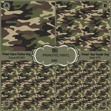Green Military Camouflage Printed HTV, Oracal651, Siser, Craft Vinyl- 046