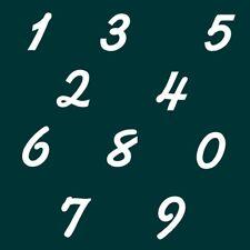 7 cm Zahlen Aufkleber Klebezahlen Ziffern Sticker 1 bis 200 Stück weiß SA-63