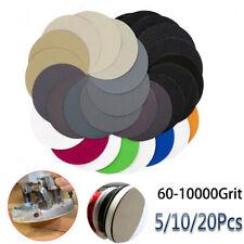 5'' 125mm Sandpaper Pads Sanding Disc 60-10000 Grit With Loop Wet or Dry
