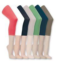LADIES 2pk set PLAIN COLOURED CROPPED SUMMER LEGGINGS women SIZES S/M & L/XL