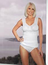 Unterhemd Damen BH Hemd  weiss 100% Baumwolle celeste ungefüttert