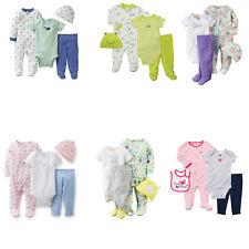 4-Piece Take-Me-Home Baby Boy's Girl's Bodysuit Pant Cotton Pajamas Clothing Set