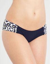 EDA Safari Gathered Side Bikini Brief Ruched Swimwear Blue Sizes S XL NEW