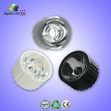 Led Lenses 60, 90, 120 Degree / 1w, 3w Led / White, Black, Clear Holder UK Stock