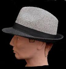 Trilby UNISEX Cappello di paglia pieghevole Giardino Festa Club Vacanza Trilby