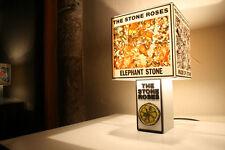 Handmade The Stone Roses Lemon Lamp + Album/Single Cover Lampshade. Brown Squire