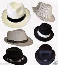 UNISEX ADULT GANGSTER HAT 20'S FANCY DRESS TRILBY AL CAPONE FANCY COSTUME HATS