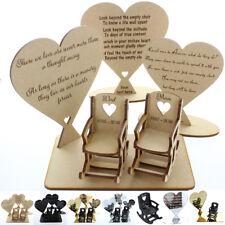 In Loving Memory Mum Sign Wedding Memorial Personalised Plaque Table Poem Heart