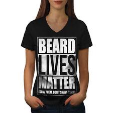 Beard Lives Matter Women V-Neck T-shirt NEW | Wellcoda