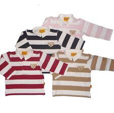 % STEIFF Langarm-Poloshirt Streifenoptik in 5 Farben von   Gr. 62-104 NEU (6873)