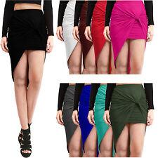 NE PEOPLE Womens Light High Waist Twist Draped Above Knee Stretch Skirt NEWSK23