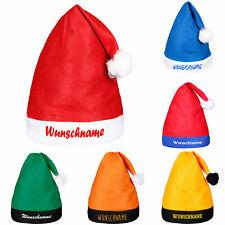 Weihnachtsmütze Nikolausmütze mit Wunschname Wunschtext  bedruckt viele Farben