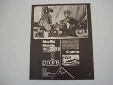 advertising Pubblicità 1966 CANON PRORA