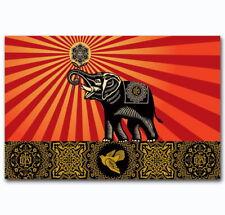 58043 OBEY Elephant Custom Animal Wall Print Poster CA