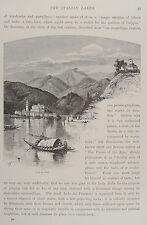 1875-LAGO DI ORTA-PIEMONTE-NOVARA-INCISINE ORIGINALE-Picturesque Europe