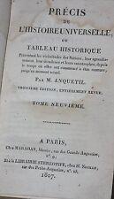 1807 Précis de l'Histoire universelle ou Tableau historique, Par M. Anquetil
