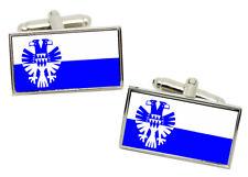 Arnhem (Netherlands) Flag Cufflinks in Chrome Gift box