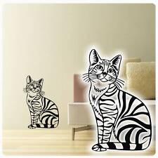 Deko wandtattoos wandbilder mit katzen motiv g nstig - Katzen wandtattoo ...
