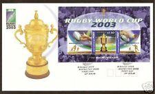 AUSTRALIA 2003 RUGBY WORLD CUP Souvenir Sheet FDC