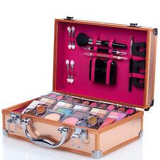 Professional Makeup Set Case Eyeshadow Palette Cosmetic Kit Brush Lipstick Gloss