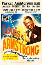 "Louis ""Satchmo"" Armstrong - 1947 - Parker Auditorium - Concert Poster"
