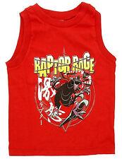 NWT DISNEY STORE POWER RANGERS Red Tank Top Boys M 7 8 RAPTOR RAGE