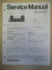 Technics Service/Repair Manual~SE-CH535 Power Amplifier