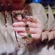 Fashion Korean 3D Jewel Chain Handle Strap TPU Case For Apple iPhone 5 6 6s plus