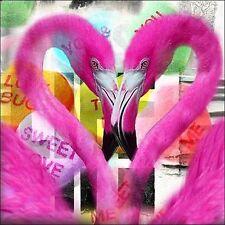 Mascha de Haas: Flamencos Camilla-imagen de pantalla rosa moderno Pop de colores