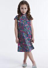 100% Artisanale Qipao Fille Robe Cheongsam Chinoise Mode Enfant en Coton #107