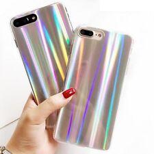 iPhone 7 8 Plus X 6 6s Plus Case Rainbow Laser Holo Chrome Holographic Shining