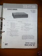 Service Manual Sony SEQ-V7700 Equalizer,ORIGINAL