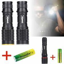 8000 LM  XML2 LED Flashlight 5 Modes 18650 Tactical Torch Focus Mini Lamp TS