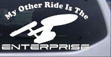 My Other Ride Is The Star Trek Enterprise Car Truck Window Laptop Decal Sticker