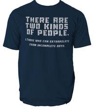 Two Kinds Of People Extrapolate T-SHIRT Geek Nerd Joke birthday Top Gift