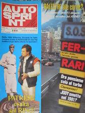 Autosprint 22 1980 Montecarlo:Mauro Baldi. Alfa:record in Spagna.GP Spagna  sc.5