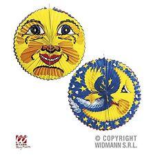 Laterne Mond UND Sonne Motiv ca. 60 cm - 2/4/6 Stück - sehr gross Papier Lampion