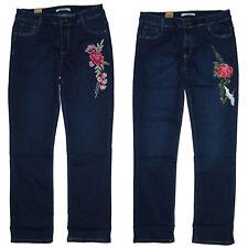StreTch-Denim Jeans für Damen *bestickt* JeanS-HoSe gerade Gr.42-50 W33-W40 NEU