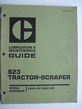 CATERPILLAR  623 TRACTOR-SCRAPER   LUBRICATION & MAINTENANCE GUIDE