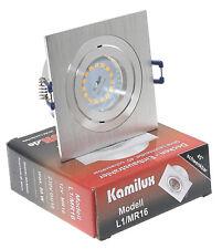Eckige LED Einbaustrahler 5W Einbauleuchte DIMMBAR 230V Einbaulampe L1 KAMILUX®
