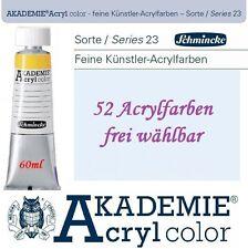(100ml=6,92€) Schmincke Akademie Acryl color Acrylfarbe 60ml Tube in 60 Farben