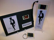 Michael Jackson Rare 3 Piece Movie Film Cell Memorabilia Collection Gift Set Lot