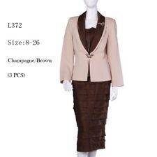 Sunday Best Women Church Suit - Soft Crepe Fabric - Standard to Plus Size - L372