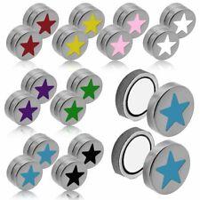 Magnet Fakeplugs Fake Plug Magnetisch Edelstahl Motiv Stern Star Piercing Tunnel