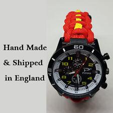 Paracord Watch in Queen Alexandras Royal Naval Nursing Service (QARNNS) Colors
