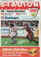 BL 91/92 VfB Stuttgart - Fortuna Düsseldorf