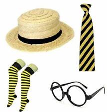 Ladies School Girl Black Yellow Geek Nerd Costume Set Hen Do Cosplay Accessories