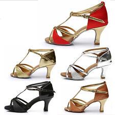 ladies women girls'Salsa tango latin dance shoes 5 styles heeled dancing shoes
