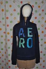 AEROPOSTALE S/P JUNIOR WOMENS Medium zip up NAVY BLUE  hoodie jacket NWT